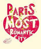 Paris city slogan vector art — Vettoriale Stock
