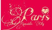 Paris city slogan vector art — Vector de stock