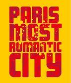 Paris city slogan vector art — Stock Vector