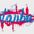 Istanbul big city vector art — Imagen vectorial