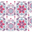 Geometric ethnic design vector art — Vettoriali Stock
