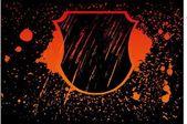 Grunge splash badge vector art — Stockvektor