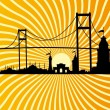 Istanbul big city vector art — Vektorgrafik