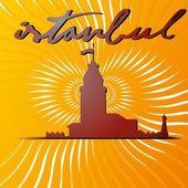 Большой город Стамбул вектор искусства — Cтоковый вектор