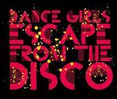 Dance girls escape from the disco vector art — Stock Vector