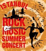 Istanbul rock music summer concert vector art — Stock Vector