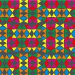 Geometric ethnic design vector art — Vektorgrafik