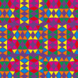 Geometric ethnic design vector art — 图库矢量图片