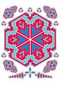 Geometric ethnic design vector art — Vecteur