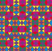 Geometric ethnic design vector art — Vettoriale Stock