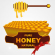 Liquid honey jar vector art design — Stock Vector