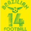 Brazilian football retro style vector art — Stock Vector #34760171
