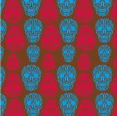 タトゥー部族の頭蓋骨ベクトル アート — ストックベクタ