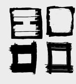 Grunge circle brush strokes vector art — Stock Vector