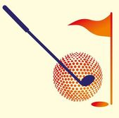 Golf sports equipment vector art — Stock Vector