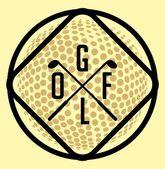 Golf sports equipment vector art — Stock Vector