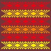 Ethnic textile design vector art — Stock Vector