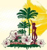 Endless summer miami beach vector art — Stock Vector