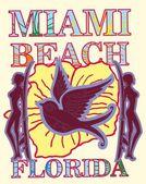 無限の夏マイアミビーチ ベクトル アート — ストックベクタ