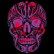 Tattoo tribal skull vector art — Imagen vectorial