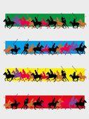 College polo player vektor konst — Stockvektor
