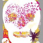 Tattoo tribal skull vector art — Stock Vector #35609847