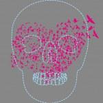 Tattoo tribal skull vector art — Stock Vector #35610891