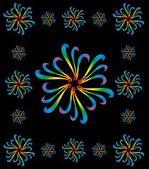Rainbow swirl texture vector art — Stock Vector