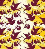 Tribal tattoo birds vector art — Stock vektor
