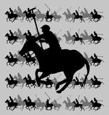 College polo speler vector kunst — Stockvector