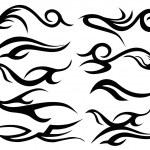 tatuagem tribal vetor arte — Vetor de Stock  #48388269