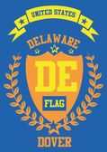 Delaware vector art — Stock Vector