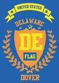 Delaware vector art — Stock Vector