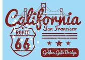 California city  vector art — Stock Vector