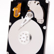 Open harddrive with white reflection - Stock Photo