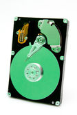 Open harddrive with green reflection — Stock Photo