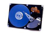 Ouvrir disque dur avec reflet bleu — Photo