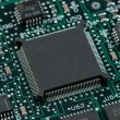 Infromation technology computer board with cpu and free space — Stock Photo #13854372