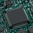 Stock Photo: Infromation technology computer board with cpu and free space