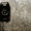 Old Telephone on Concrete Wall — Stock Photo