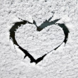 Heart in the snow — Stockfoto