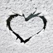 Heart in the snow - Photo