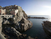Houses to Riomaggiore — Stock Photo