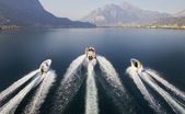 Motorboats in run — Stock Photo