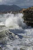 在暴风雨中的海 — 图库照片