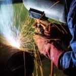 ������, ������: Welding worker doing welding at pipe
