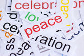 Word peace — Stock Photo