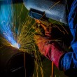 Foto Stock: Skilled welder