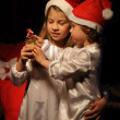 Two kids and Christmas — Stock Photo