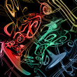 Royalty-Free Stock Photo: Colorful music background